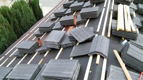how to installing flat tile roof with wood battens