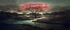 japanese cherry blossom anime wallpaper - Google Search ...