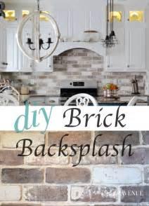 do it yourself kitchen backsplash ideas do it yourself brick veneer backsplash bricks