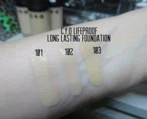 Concealer Chart C Y O Lifeproof Long Lasting Foundation Actual Lifeproof