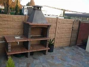 barbecue en pierre pour jardin With barbecue de jardin en pierre