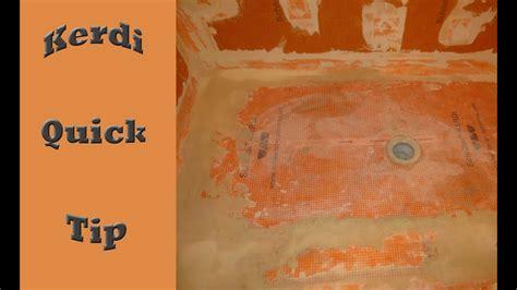 quick tip  installing schluter kerdi membrane youtube