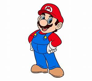 How to Draw Super Mario in a Few Easy Steps | Easy Drawing ...