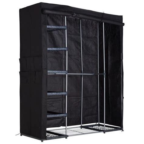 Buy Black Wardrobe by Buy Home Metal And Polycotton Wardrobe Black At