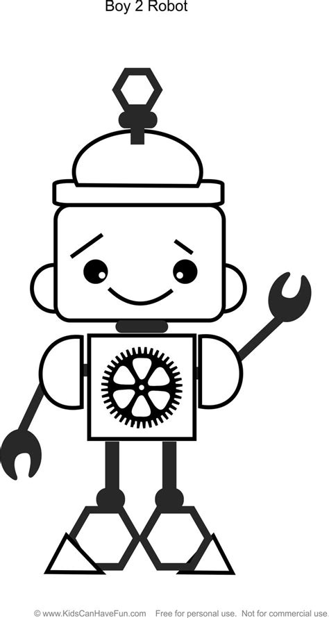 Pin by KidsCanHaveFun.com on Robot Coloring Pages | Robot