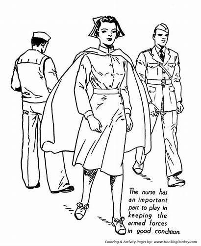 Coloring Nurse Pages Forces Armed Printable Nurses