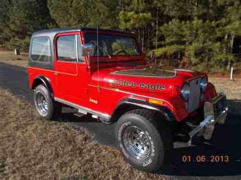jeep cj golden eagle sell used jeep cj7 golden eagle in easley south carolina