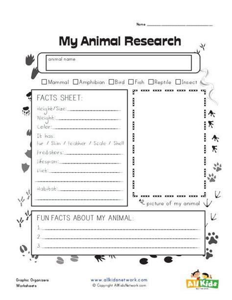 animal research graphic organizer graphic organizers