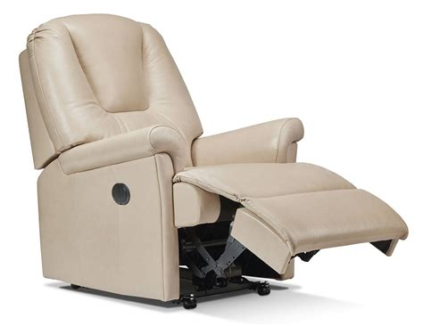 sherborne milburn small recliner chair leather  relax