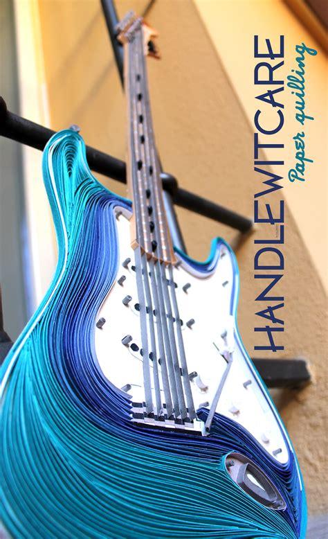 paper fender stratocaster quilling guitar  behance