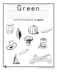 Printable Preschool Worksheets Color Green