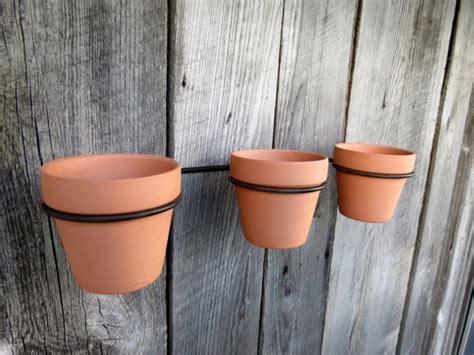 support pot de fleurs pots de fleurs terre cuite avec support de support de mur mur