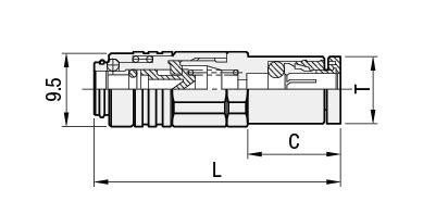 combining form for socket of a joint air couplers standard one touch coupling socket