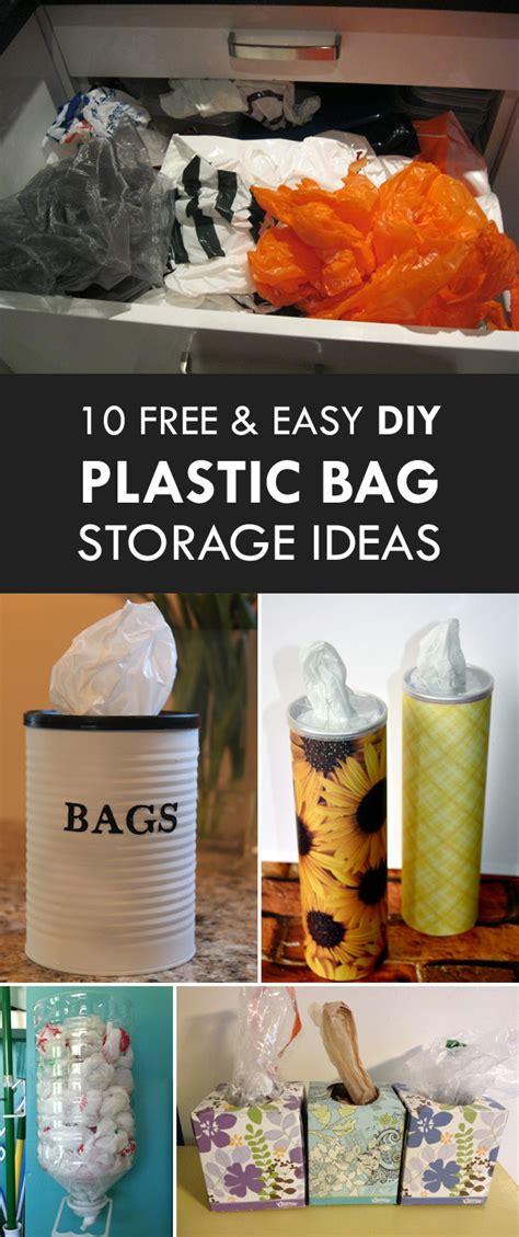 easy diy plastic bag storage ideas