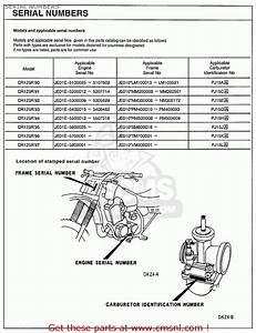 Honda Cr125r 1997  V  Usa Serial Numbers