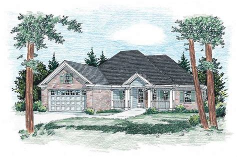 house plan    bedroom  sq ft country ranch home tpc marquette