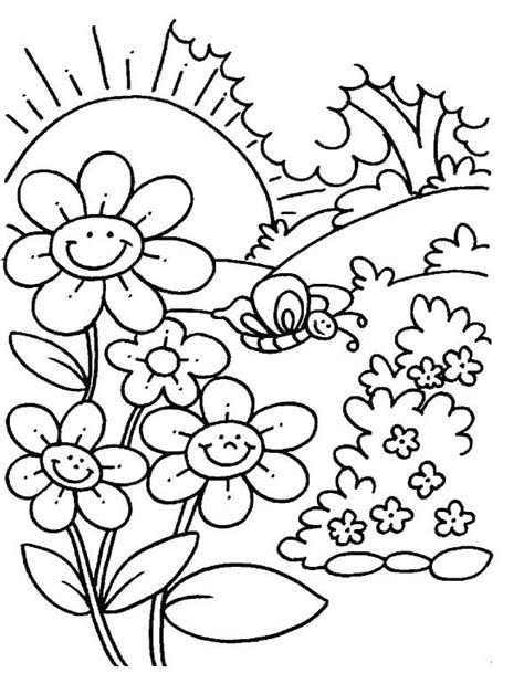 spring coloring pages  coloring pages  kids