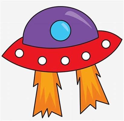 Space Outer Clip Clipart Planet Ufo Alien