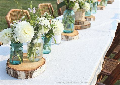 rustic table decorations rustic outdoor party taryn whiteaker