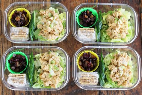 Chicken Salad Protein Boxes (meal Planning