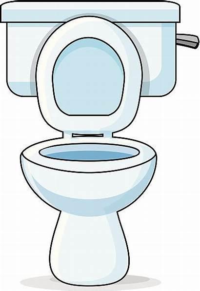 Toilet Clipart Flushing Lavatory Toilettes Illustrations Clip