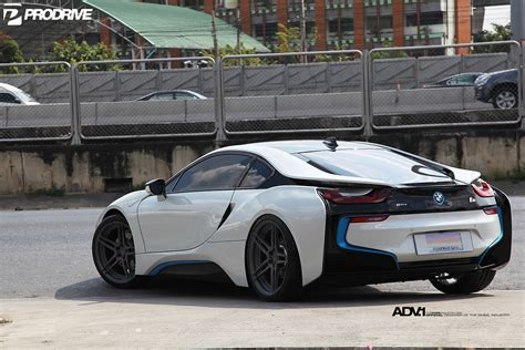 Crystal Pearl White Metallic Bmw I8 With Adv.1 Wheels