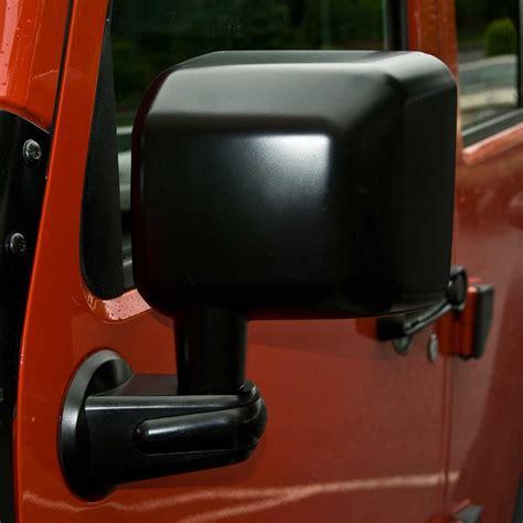 jeep wrangler side mirrors doors rugged ridge 11002 13 door mirror black left side 07 15