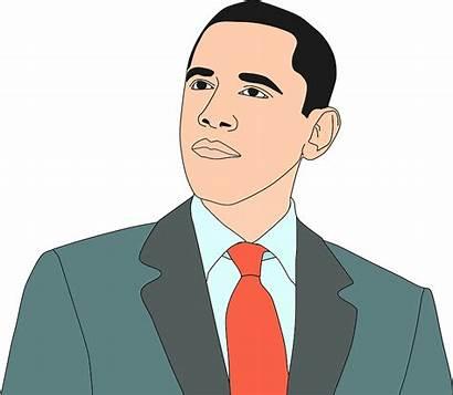 Clipart Obama Vector Portrait Clip Barack African