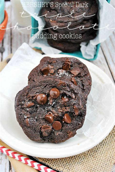 Perfect with a dollop of softly whipped then whisk in 1/3 cup (80 ml) of the milk to make a thick paste. Hershey's Special Dark Triple Chocolate Pudding Cookies Recipe   Recipe   Desserts, Best ...