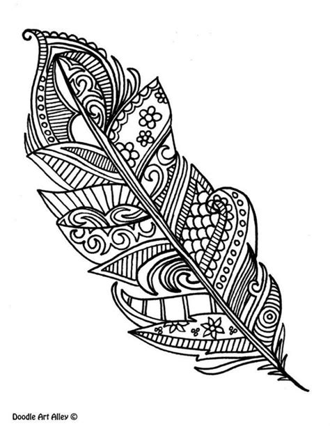 Free printable Feather coloring pages for adults
