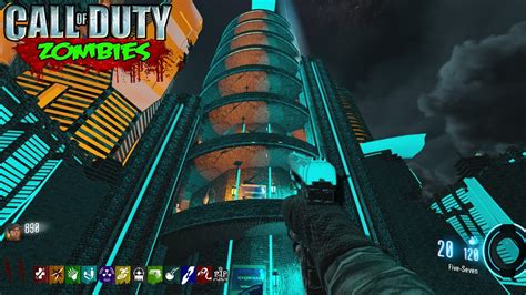 tron tower challenge zombies map black ops  custom