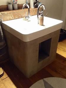 Beton Streichen Haftgrund : waschtischunterkonstruktion aus schichtstoffplatten mit ~ Articles-book.com Haus und Dekorationen