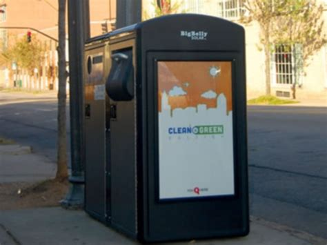 smart trash cans save city thousands  dollars