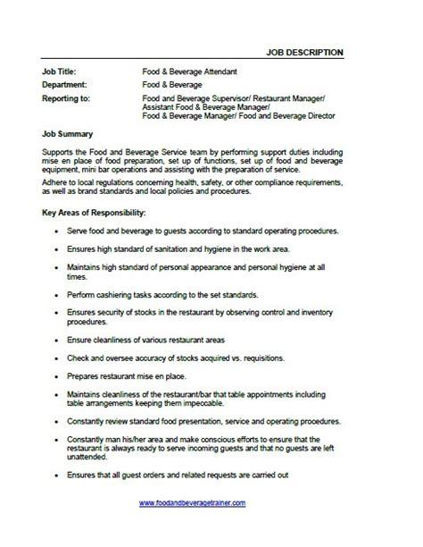 description cuisine room attendant description for resume image flight