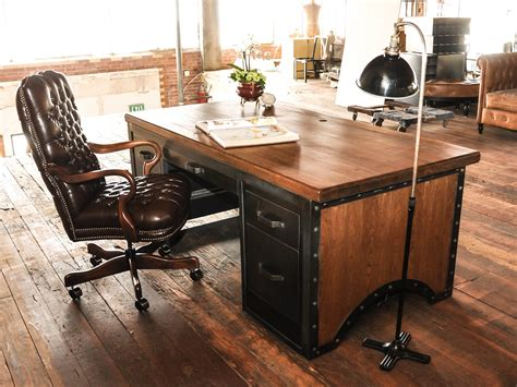 industrial office desk desks vintage industrial furniture