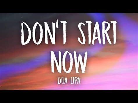 Dua Lipa - Don't Start Now (Lyrics) - YouTube in 2020 ...