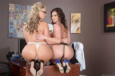 Kendra Lust And Phoenix Marie Posing For Your Pleasure In The Office Porn Pics At My Pornstar Book