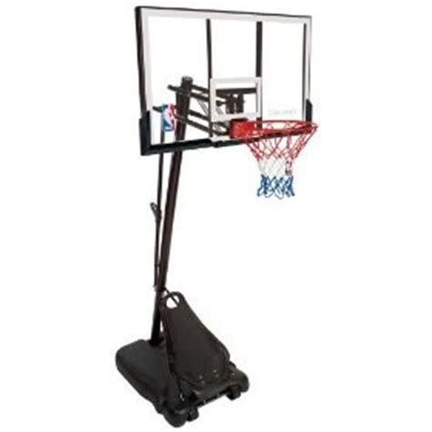 spalding  portable basketball system  bb