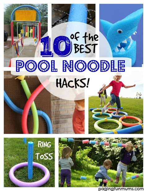pool noodle hacks paging fun mums