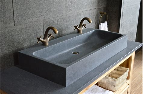 Granit Waschbecken Bad by 1000mm Trough Granite Bathroom Sink Looan