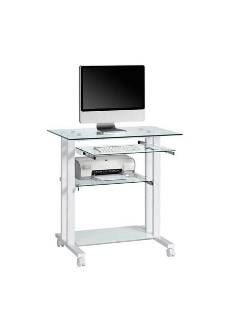 bureau informatique design m 233 tal verre adonie bureau informatique bureau