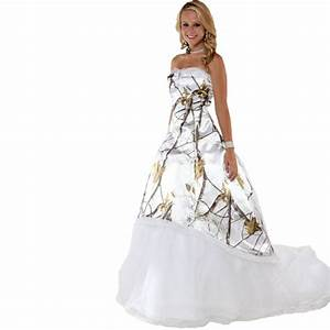 realtree snow white camo prom dresses 2017 long robe With white camo wedding dresses