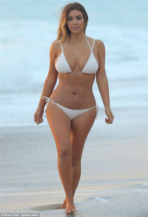 Kim Kardashian in a    Beach in Miami   November 2013