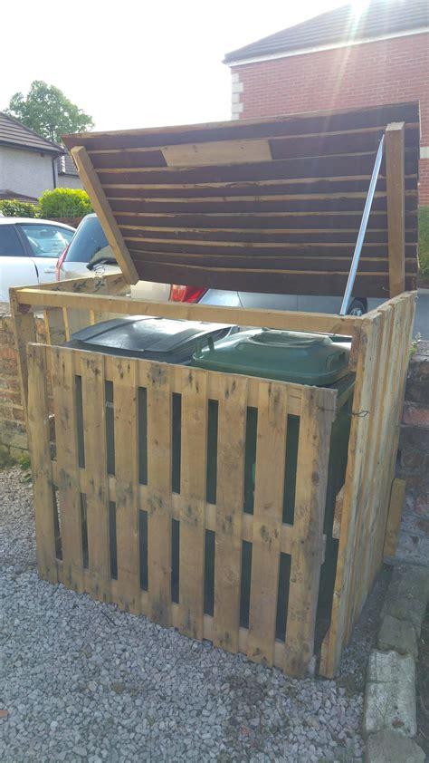 garbage bin storage shed pallet garbage bin storage shed 1001 pallets
