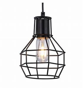 Suspension Noire Design : suspension m tal design noire industrielle luma ~ Teatrodelosmanantiales.com Idées de Décoration