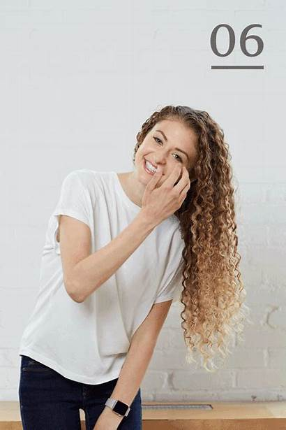 Shake Gently Step Rub Hair Curly Dry