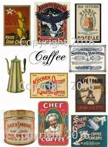 Printable Vintage Coffee Labels