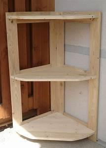 Etagere En Angle : etagere d 39 angle en palette ~ Teatrodelosmanantiales.com Idées de Décoration