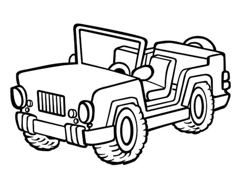 disegni da colorare jeep disegno di jeep da colorare acolore