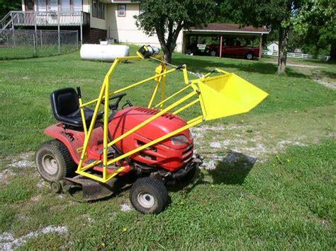 diy lawn tractor front end loader plans